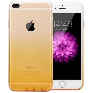Husa TPU Gradient pentru iPhone 8 Plus, Galben / Transparent0
