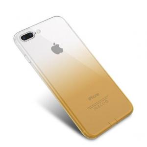 Husa TPU Gradient pentru iPhone 8 Plus, Galben / Transparent1