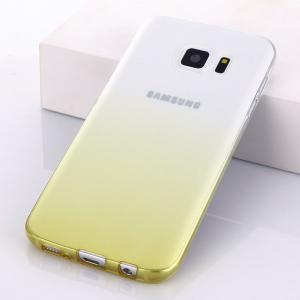 Husa TPU Gradient pentru Samsung Galaxy S6 Edge, Galben / Transparent [1]
