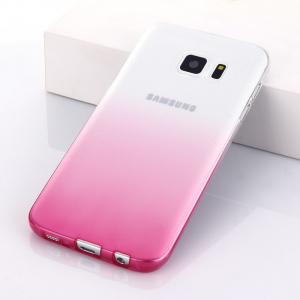 Husa TPU Gradient pentru Samsung Galaxy S7 Edge, Roz / Transparent1