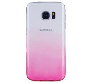 Husa TPU Gradient pentru Samsung Galaxy S7 Edge, Roz / Transparent0