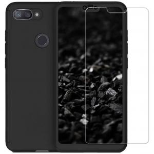 Husa Xiaomi Mi 8 Lite Full Cover 360 + folie sticla, Negru0