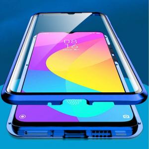 Husa Xiaomi Mi 9 Lite Magnetic Glass 360 (sticla fata + spate), Albastru1