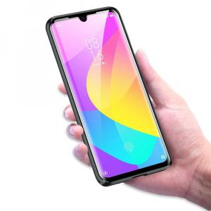 Husa Xiaomi Mi 9 Lite Magnetic Glass 360 (sticla fata + spate), Negru [2]