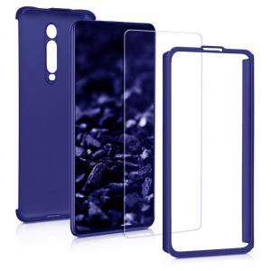 Husa Xiaomi Mi 9T Full Cover 360 + folie sticla, Albastru1