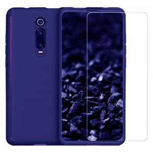 Husa Xiaomi Mi 9T Full Cover 360 + folie sticla, Albastru0