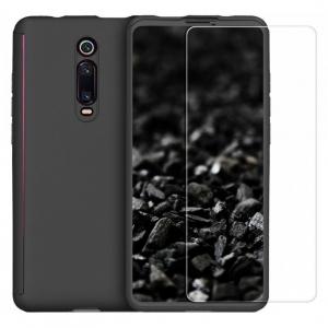 Husa Xiaomi Mi 9T Full Cover 360 + folie sticla, Negru0