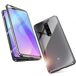 Husa Xiaomi Mi 9T Magnetic Glass 360 (sticla fata + spate), Negru1