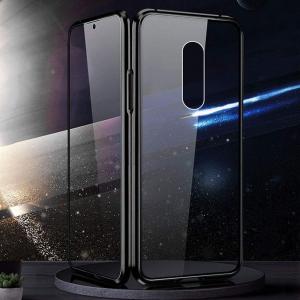 Husa Xiaomi Mi 9T Magnetic Glass 360 (sticla fata + spate), Negru2