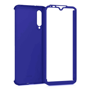 Husa Xiaomi Mi A3 Full Cover 360 + folie sticla, Albastru1