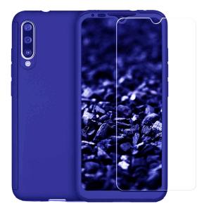 Husa Xiaomi Mi A3 Full Cover 360 + folie sticla, Albastru0