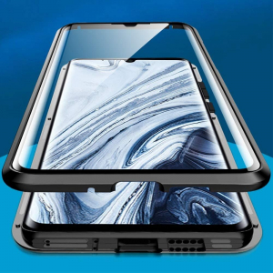 Husa Xiaomi Mi Note 10 Pro Magnetic Glass 360 (sticla fata + spate), Negru1