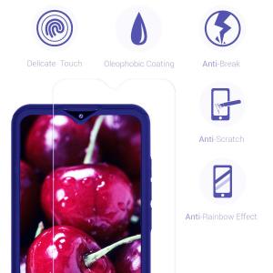 Husa Xiaomi Redmi 8 Full Cover 360 + folie sticla, Albastru2