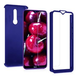 Husa Xiaomi Redmi 8 Full Cover 360 + folie sticla, Albastru1