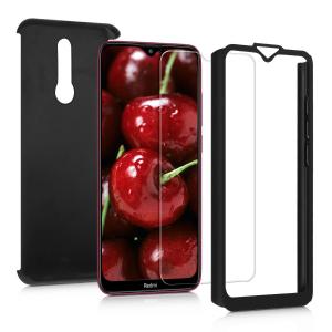 Husa Xiaomi Redmi 8 Full Cover 360 + folie sticla, Negru1