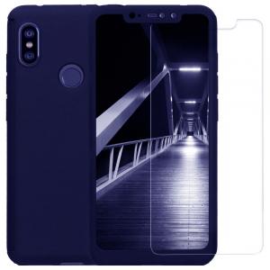 Husa Xiaomi Redmi Note 6 Pro Full Cover 360 + folie sticla, Albastru0