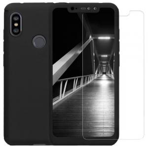 Husa Xiaomi Redmi Note 6 Pro Full Cover 360 + folie sticla, Negru0