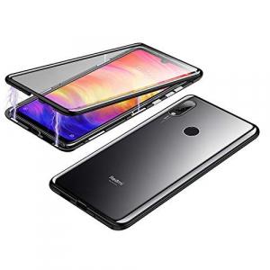 Husa Xiaomi Redmi Note 7 Magnetic Glass 360 (sticla fata + spate), Negru1