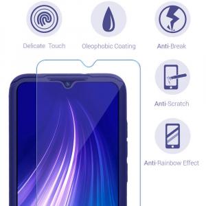 Husa Xiaomi Redmi Note 8 Full Cover 360 + folie sticla, Albastru2