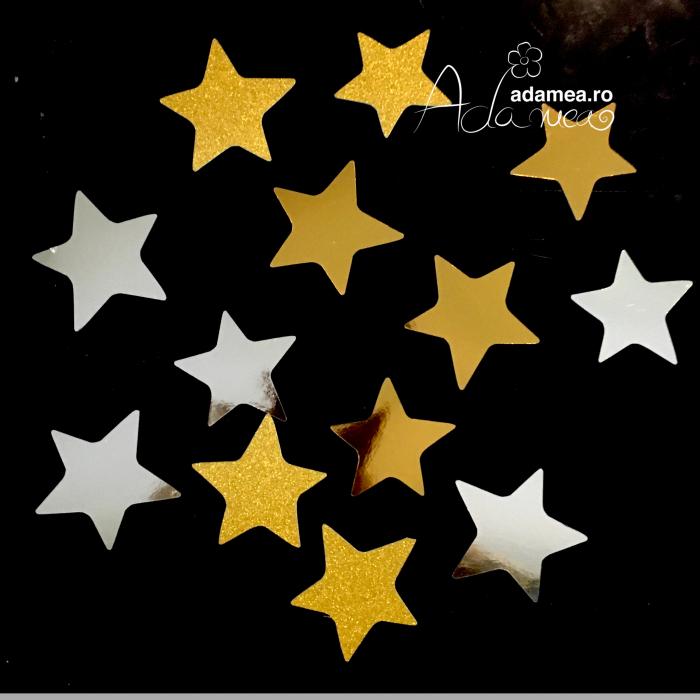 Set de 12 steluțe auriu 0