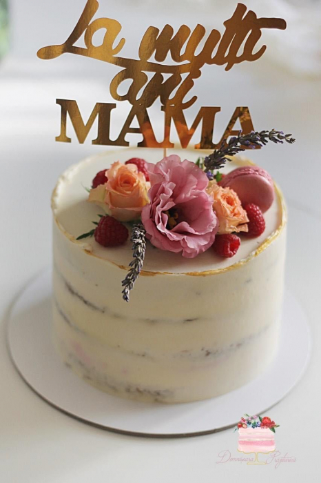 Topper La mulți ani Mama - auriu oglindă gold 0