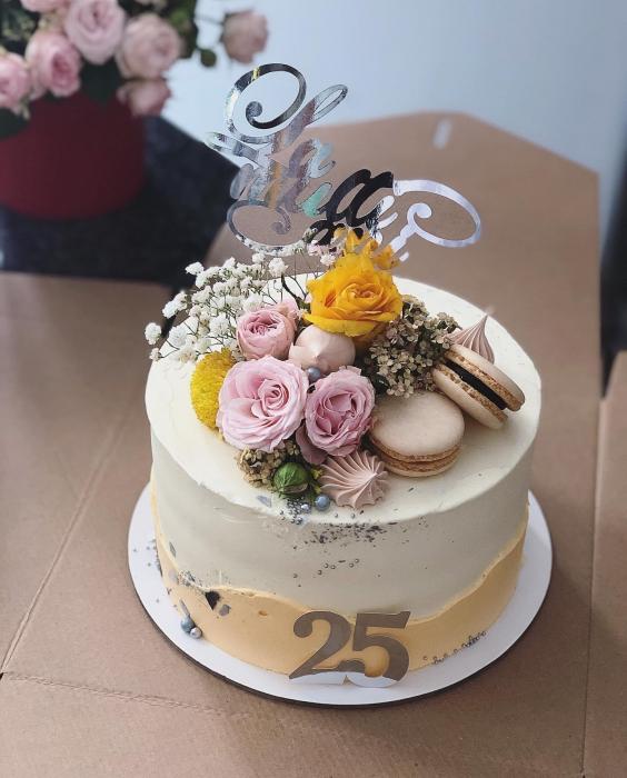 Topper tort - La mulți ani - argintiu oglindă 0