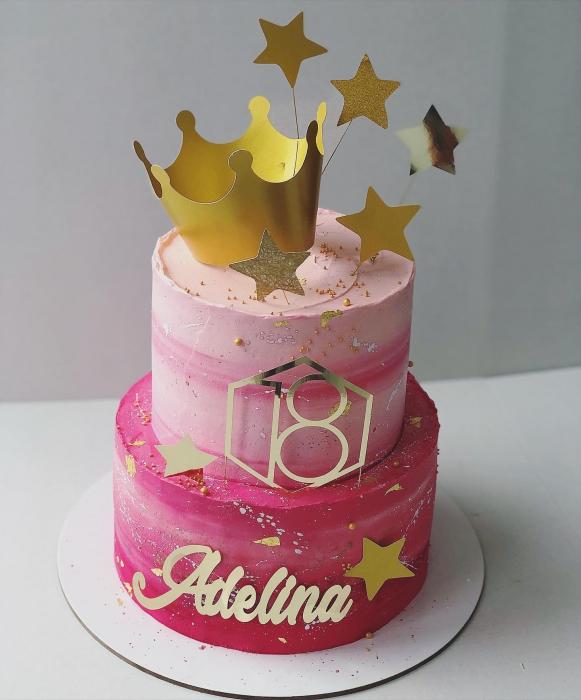 Ornamet tort sub formă de coroana de prințesă 0