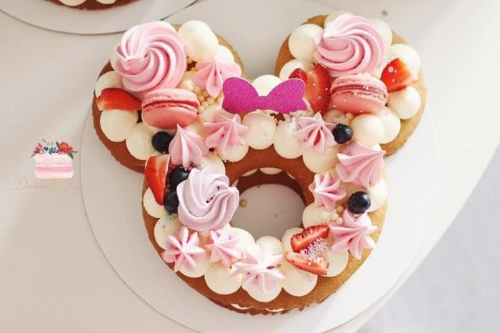 Funda Minnie din glitter roz 0