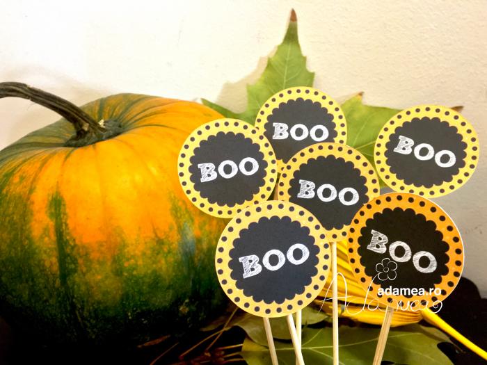 Set de 6 toppere cu Boo pentru Halloween [0]