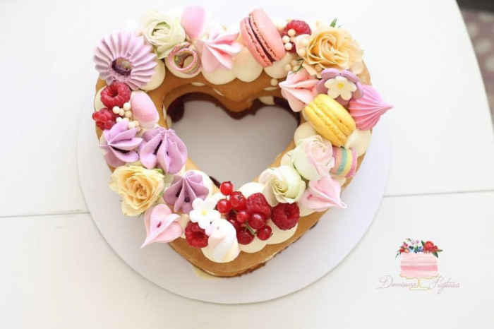 Sablon tort inima 0