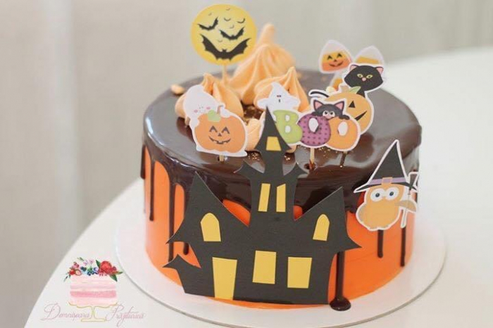 Toppere carton cu decor de Halloween 0