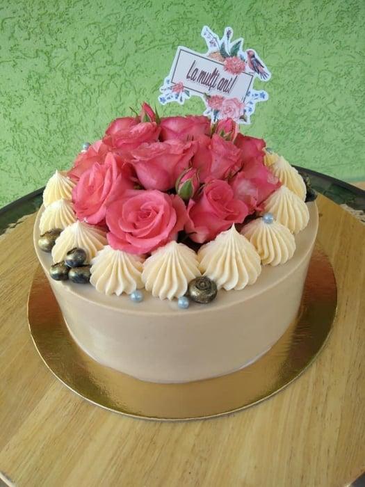 Steguleț La mulți ani cu flori și pasăre [0]