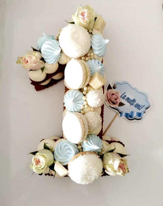 Topper La multi ani bleu cu flori 0