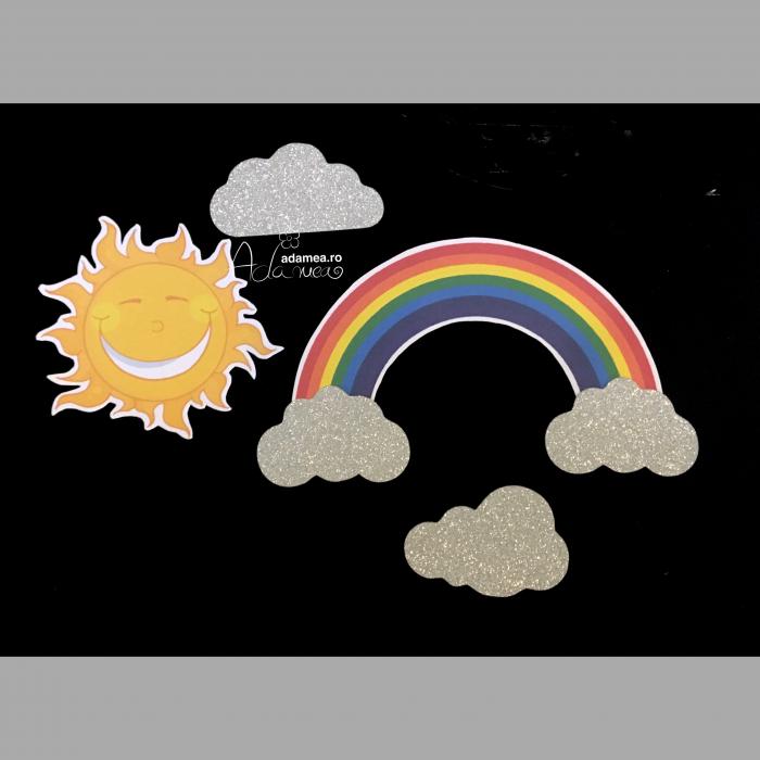 Suită curcubeu cu soare și nori 0
