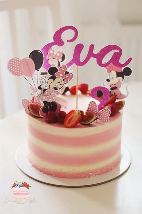 Suită de toppere tort cu Minnie 0