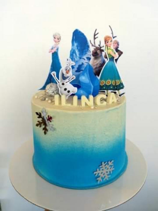 Suita toppere tort cu Anna, Elsa, Kristoff, Sven și Olaf [0]