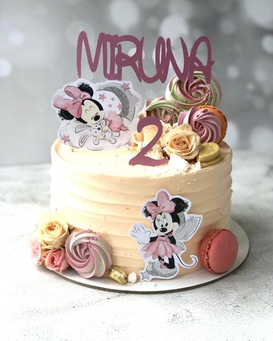 Suită delicată cu Minnie Mouse roz 0