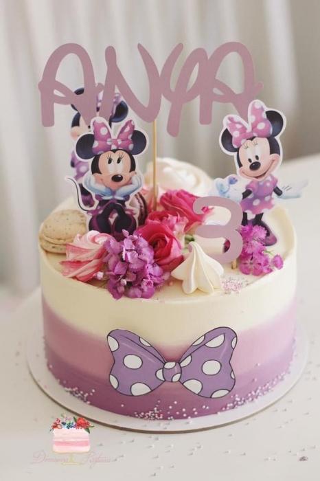 Suită toppere de tort cu Minnie varianta mov 0