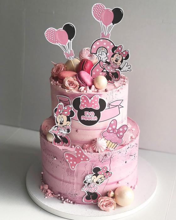 Suită veselă cu minnie Mouse roz [0]