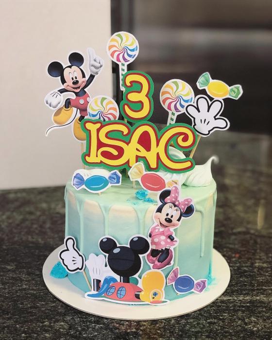 Suită toppere cu Minnie, Mickey și dulciuri 0