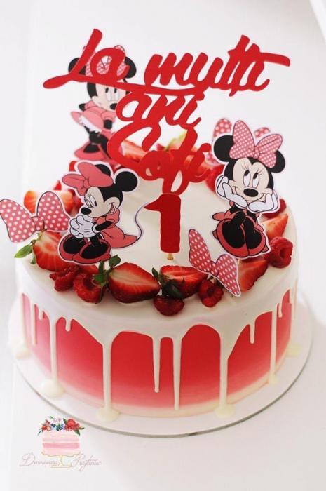 Suita de toppere tort cu Minnie rosu [0]