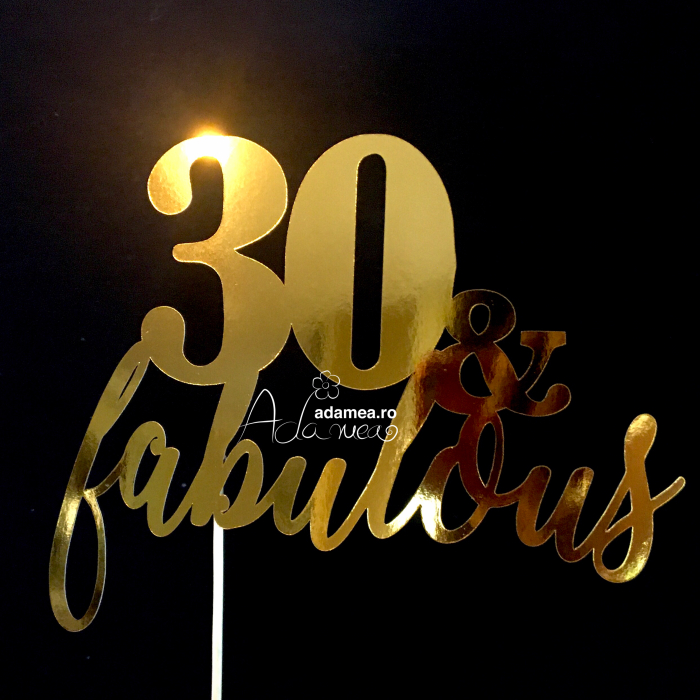 Topper 30 & fabulous 0