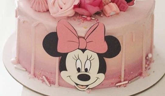 Topper frontal  din carton cu cap de Minnie 0