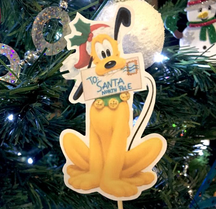 Topper tort cu Pluto de Crăciun 0
