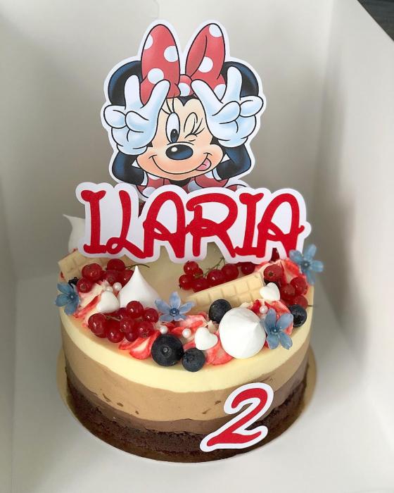 Suita toppere tort cu Minnie rosie pusa pe sotii [2]