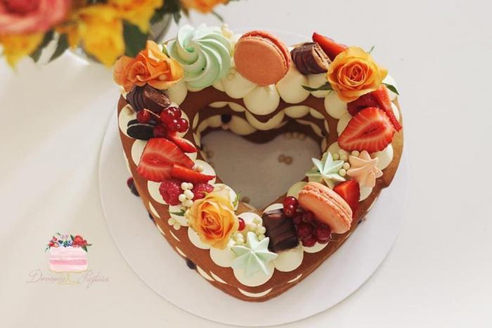 Sablon tort inima 5