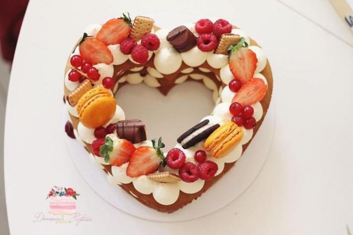 Sablon tort inima 1