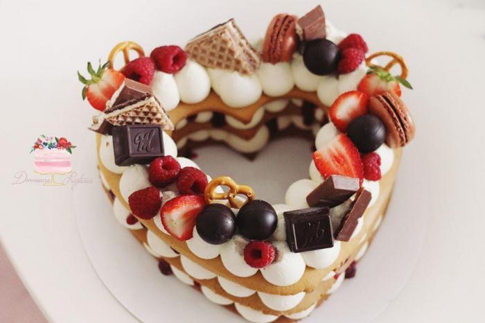 Sablon tort inima 4