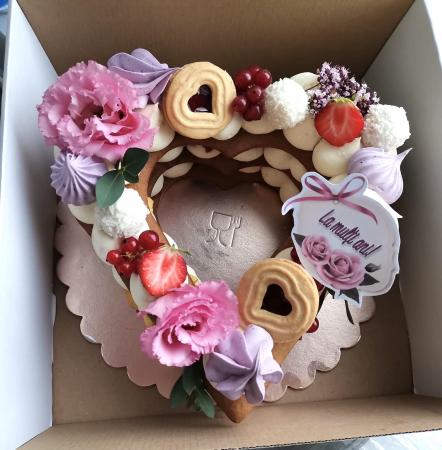 Steguleț La mulți ani roz, cu trandafir1