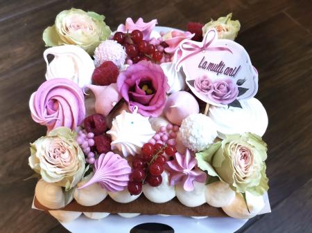 Steguleț La mulți ani roz, cu trandafir0